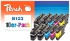 319982 - Peach 10er-Pack Tintenpatronen kompatibel zu LC-123 Brother